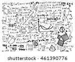 math linear mathematics... | Shutterstock .eps vector #461390776