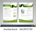 front and back page brochure... | Shutterstock .eps vector #461391730