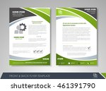 front and back page brochure... | Shutterstock .eps vector #461391790