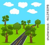 intersections and branch roads... | Shutterstock .eps vector #461393098