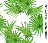 background palm tree leaves.... | Shutterstock . vector #461395030