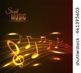 soul music poster. shining... | Shutterstock .eps vector #461395603