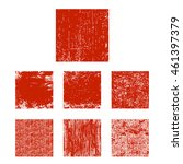 set of red grunge square.... | Shutterstock .eps vector #461397379