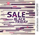 vector glitch sale illustration.... | Shutterstock .eps vector #461407399