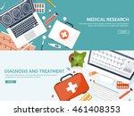 medical flat vector background... | Shutterstock .eps vector #461408353