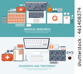 medical flat vector background... | Shutterstock .eps vector #461408374