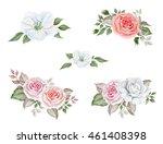 watercolor wedding bouquets | Shutterstock . vector #461408398