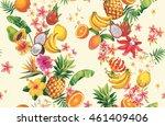 hawaiian seamless pattern with... | Shutterstock .eps vector #461409406