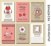 vector set  hipster style... | Shutterstock .eps vector #461409448