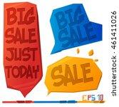 vector glitch sale illustration.... | Shutterstock .eps vector #461411026