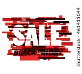 vector glitch sale illustration.... | Shutterstock .eps vector #461411044