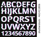 vector glitch fonts pack. | Shutterstock .eps vector #461411806