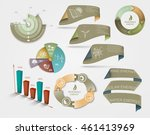 set of diagrams and graphs the... | Shutterstock .eps vector #461413969