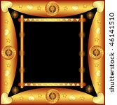 decorative frame with patterns... | Shutterstock . vector #46141510