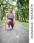 attractive female sport fitness ...   Shutterstock . vector #461418274