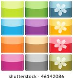 glassy colorful icons and... | Shutterstock . vector #46142086