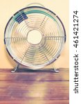 Small photo of Turquoise Oscillating Table Fan