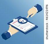 job interview and recruitment... | Shutterstock .eps vector #461421496