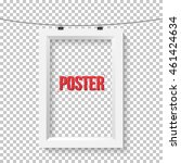 illustration of poster frame... | Shutterstock . vector #461424634