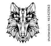 graphic  vector fox.... | Shutterstock .eps vector #461425063