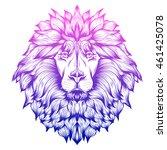 graphic  vector lion.... | Shutterstock .eps vector #461425078