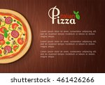 italian pizza banner with place ... | Shutterstock .eps vector #461426266