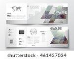 vector set of tri fold... | Shutterstock .eps vector #461427034