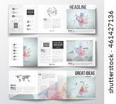 vector set of tri fold... | Shutterstock .eps vector #461427136