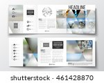 set of tri fold brochures ... | Shutterstock .eps vector #461428870