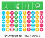 vector icon pack travel and...