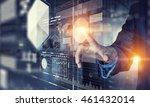 businessman using innovative...   Shutterstock . vector #461432014