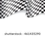 checkered flag and white blank...   Shutterstock .eps vector #461435290