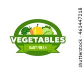 vegetables logo template | Shutterstock .eps vector #461447218