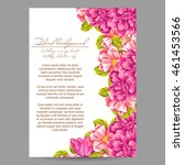 invitation with floral... | Shutterstock . vector #461453566