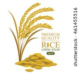 rice. vector illustration. | Shutterstock .eps vector #461455516