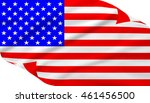 the stars and stripes flag on... | Shutterstock . vector #461456500