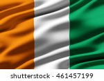 close up of ruffled flag of... | Shutterstock . vector #461457199