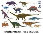 dinosaurs cartoon collection ... | Shutterstock .eps vector #461459056