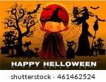 halloween night background with ... | Shutterstock .eps vector #461462524