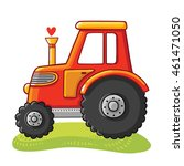 cute tractor in a clearing....   Shutterstock .eps vector #461471050