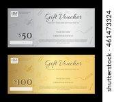 gift voucher or gift... | Shutterstock .eps vector #461473324