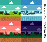game background in flat color | Shutterstock .eps vector #461474578