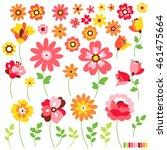 flower illustration object   Shutterstock .eps vector #461475664