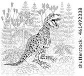 tyrannosaur    prehistoric... | Shutterstock .eps vector #461492338