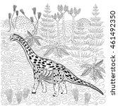 diplodocus   prehistoric... | Shutterstock .eps vector #461492350