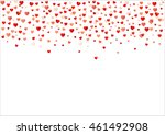 colorful background with heart... | Shutterstock .eps vector #461492908