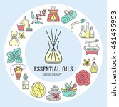 aromatherapy and essential oils ... | Shutterstock .eps vector #461495953