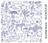 Doodle Tropic Forest Animals...