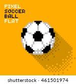 pixel soccer ball in a flat... | Shutterstock .eps vector #461501974