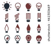 bulbs icon set | Shutterstock .eps vector #461503669